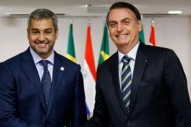 Jair Bolsonaro recibe al presidente de Paraguay Abdo Benítez