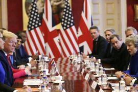 Donald Trump y Theresa May aseguran alcanzar un ambicioso tratado comercial